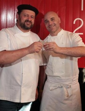 MasterChefs Christophe Krywonis e Germán Martitegui