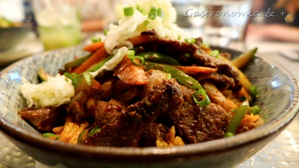 Rice Bowls com beef, gengibre e muita pimenta!