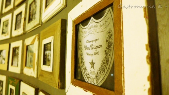 Sala para eventos privados patrocinada pela Dom Pérignon