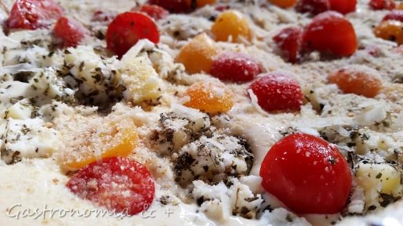 Muito queijo e muito tomate!!!!